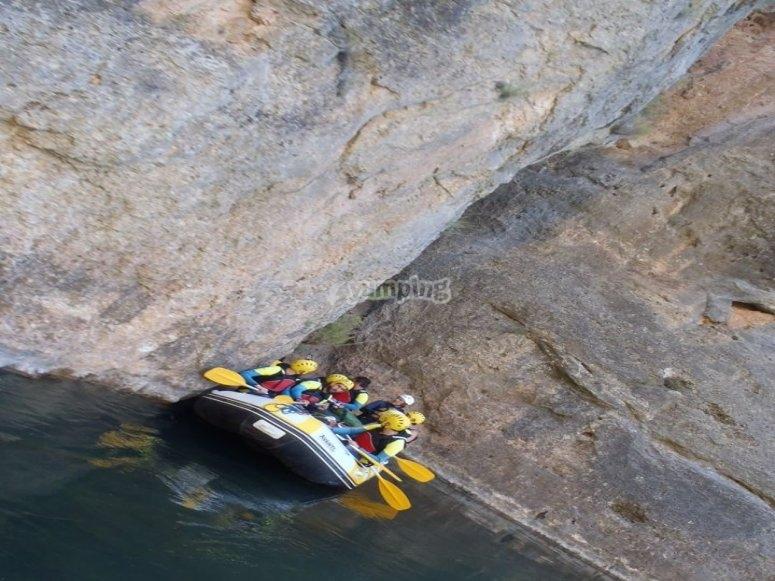 En el rafting