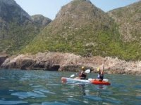 Sailing in a kayak