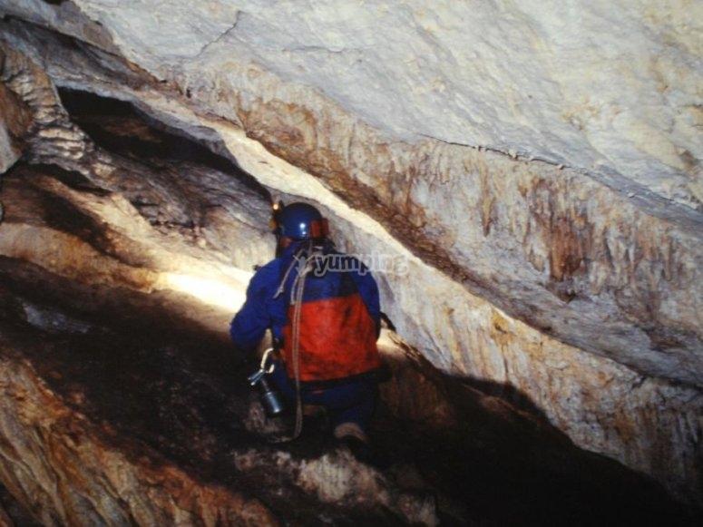Formacion en la cueva