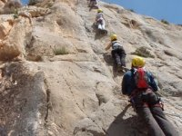 Following the path marked by via ferrata