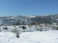 Campo de paintball nevado