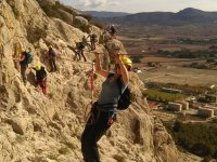 On the via ferrata with friends