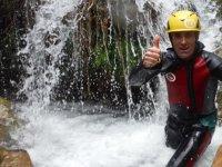 Saliendo de la cascada del barranco
