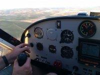 Cockpit de la P92 de escuela