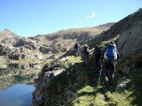 国家公园的Aiguestortes达到比利牛斯山的湖泊