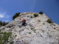 Rappel en los Pirineos