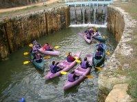 Piraguas en el Canal de Castilla