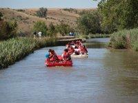 Hidropedales en el rio