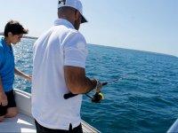 Pescando en costas de Mallorca