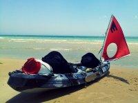 Sailing kayak with waterproof boat