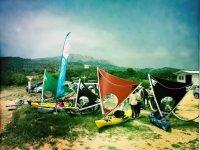 Sailing kayaks in Tarifa