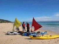 Sailing kayaks in Valdevaqueros