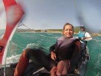Sailing two-sea kayak trip
