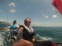 Sailing kayaking