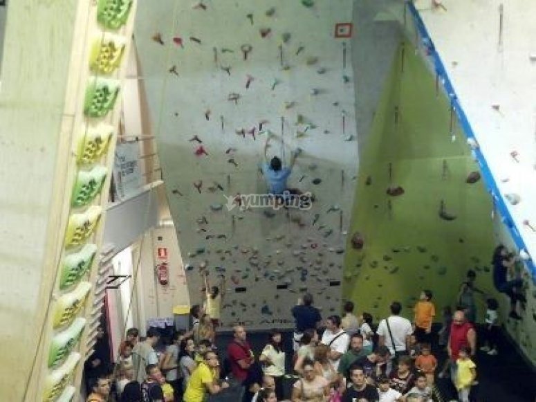 Climbing wall in Barcelona