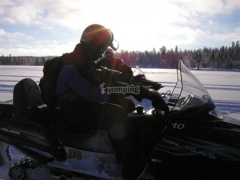 Moto de nieve en Pont de Suert