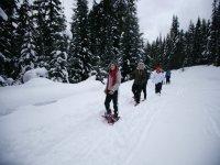 Salida con raquetas de nieve en el Pirineo