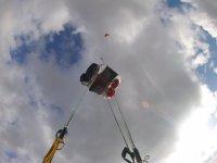 Segundos antes de que se abra el paracaídas