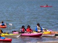 Canoas alcanzando la orilla