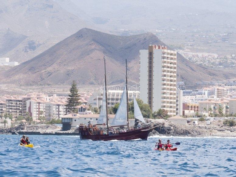 Excursión en kayak desde Los Cristianos