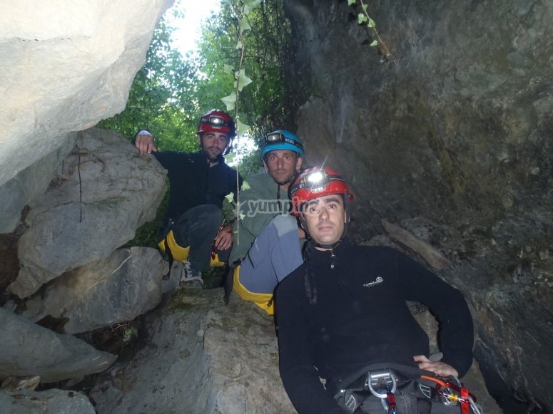 Starting the caving route