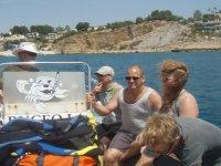 Salida en embarcacion de La Galera
