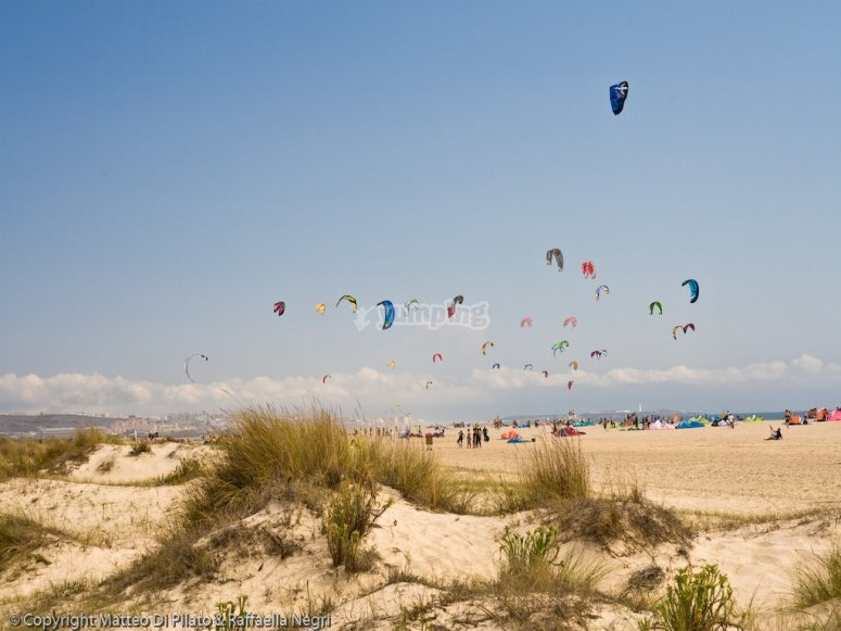 率,海滩Los Lances