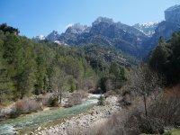 欣赏山脉的自然风光