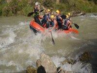 Adrenaline rush on board the raft