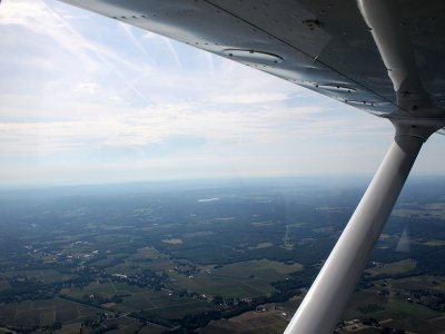 Bautismo de vuelo en avioneta, en Las Infantas
