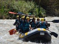 Friends aboard the raft