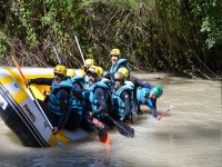 Attempting rafting with those at work
