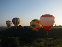 Flight with several balloons