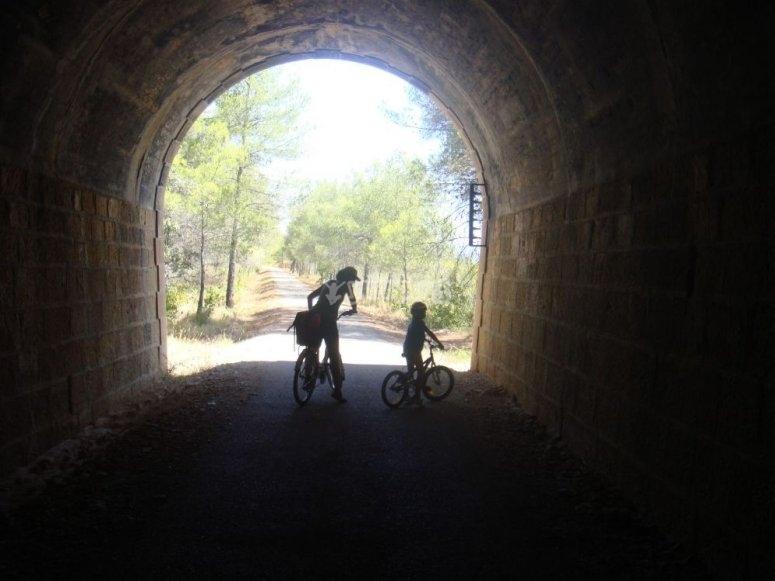 Dentro del tunel