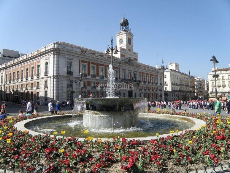 Puerta del sol en la capital