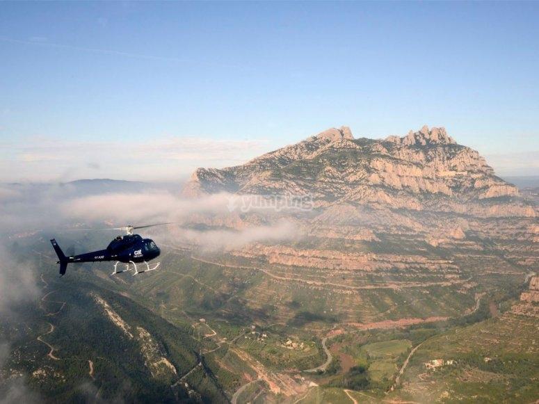 Montserrat desde el helicoptero