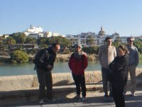 Enjoying a guided tour of Seville