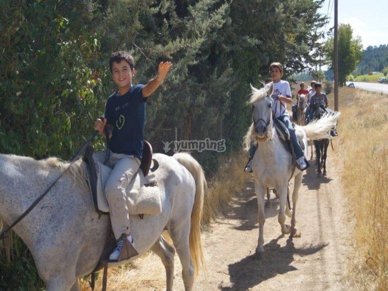 Strolling on horseback