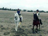 Girls on horseback in Jerez