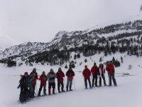 Todos preparados con el equipo de esqui