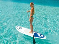 Blue waters paddle surf