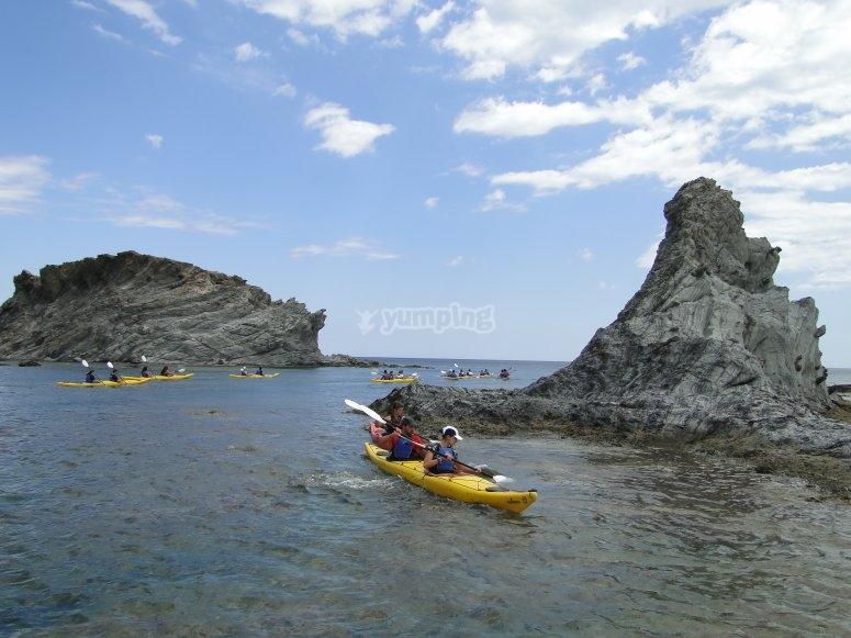 Excursion en Ecokayak Cap de Creus