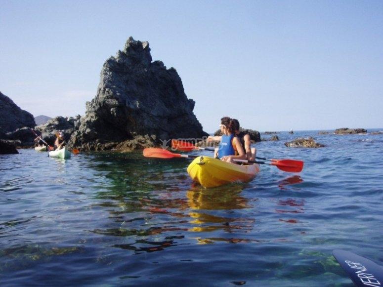 Kayak en Cap de Creus