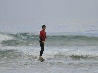 Surf con mar calmado