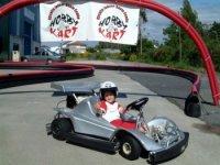 Karting infantil en Santa Comba, 7 min