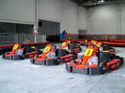Go-karting competition + trophies in Santa Comba