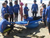 海滩上的练习