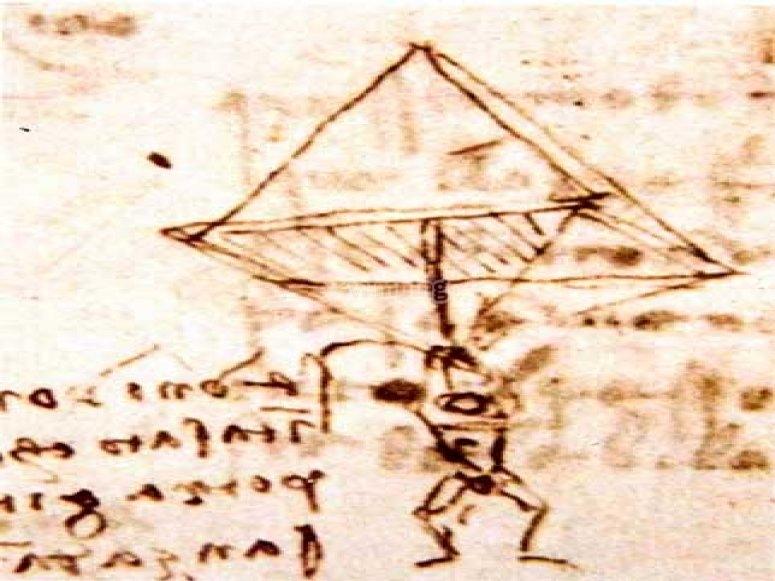 Historia de los deportes de aventura - Baldaquino de Leonardo Da Vinci