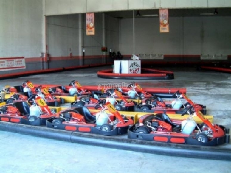 An awesome go karting competition