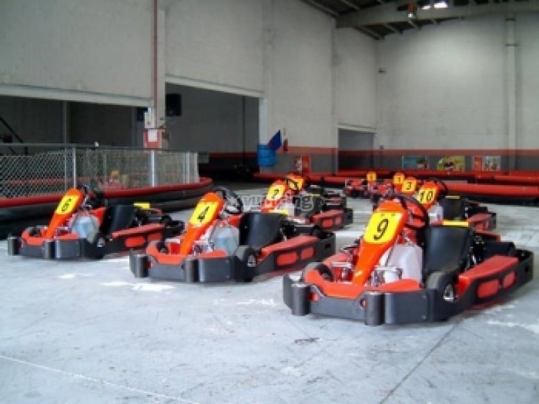 Habrá varias tandas de karting